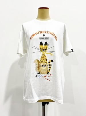 〈東京リベンジャーズ〉マイキー猫&ドラケン猫 Tシャツ (Illustrations by 黒ねこ意匠)