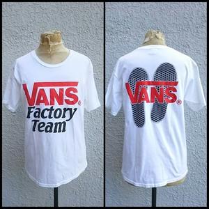 【キムタク着】スタンダードカリフォルニアSTANDARD CALIFORNIA/バンズVANSヴァンズ×SD Factory Team/別注/限定/Tシャツ/白/S/