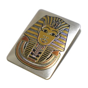 Reed & Barton Damascene 70's Vintage Pewter Plate King Tut Pharoh Pin Brooch
