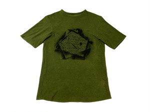 20SS 硫化染め綿麻Tシャツ / Sulfide dyeing cotton linen T-shirts / Khaki
