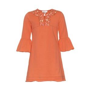 【予約商品】2041 オレンジ長袖ドレス
