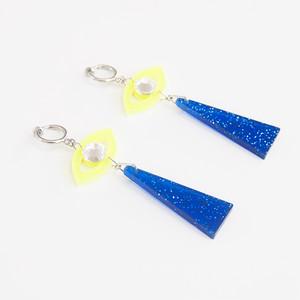 SHI★SEN earrings - yellow-blue -
