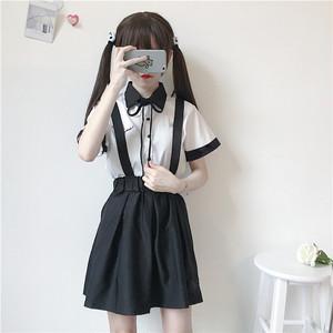 【セットアップ】2点セット夏新作配色ファッションシャツ+スカート/パンツ