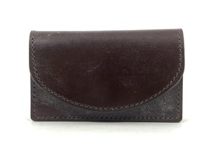 RE.ACT Bridle Leather Card Case Burgundy