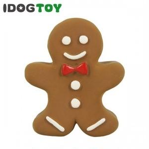 犬用おもちゃ(ジンジャーブレッドマン)