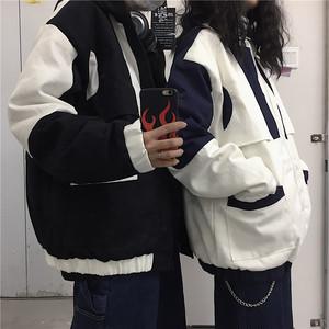 《即納》バイカラー・フード付きジャケット