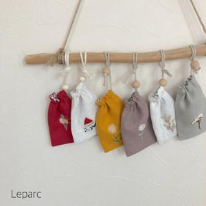 大人の刺繍巾着ミニサイズ【6種類】受注制作