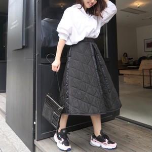 キルティングスカート(ブラック)
