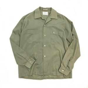 【USED】60s Vintage オープンカラーシャツ 開襟シャツ 長袖 ハンドステッチ