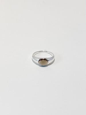 gem round ring -smoky quartz-
