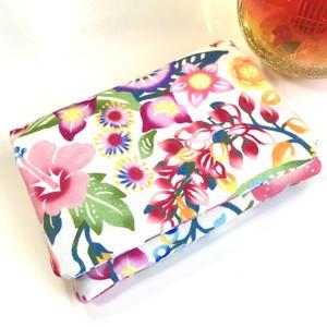 ティッシュケース 花柄デザイン 沖縄の花たち ピンク