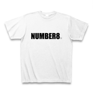 Number8(ナンバーエイト)スモールダイヤモンドホワイトTシャツ(ブラックロゴ)