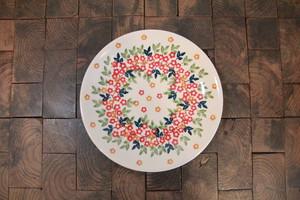 ポーランド食器 ポーリッシュポタリー プレートS ケーキプレート 17cm T130-KK02 花柄/小花