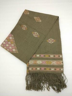 DEKIブータン産ストール17003 Wild silk 80% Cotton 20%