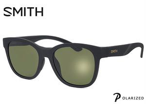 SMITH (スミス) 偏光サングラス Caper matte black chromapop polarized gray green 偏光 サングラス メンズ 男性用 ウェリントン