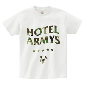 H/A LOGO STAR ICON T-SHIRTS WHITE x WOODLAND-CAMO