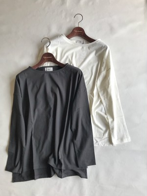 シンプルロングTシャツ[siro]