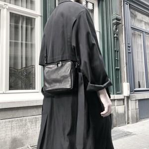 Leather shoulder bag 'boite' ショルダーバッグ 191ABG05