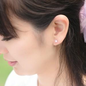 京都オパールのプチピアス(桜色)