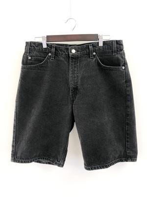 Levi's 550 Black Denim Shorts