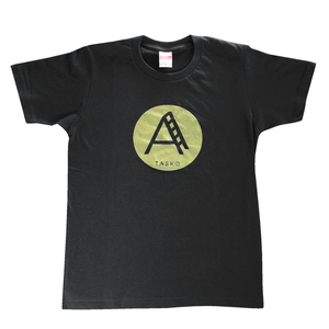 TASKO「A」Tシャツ スミクロ&ゴールド