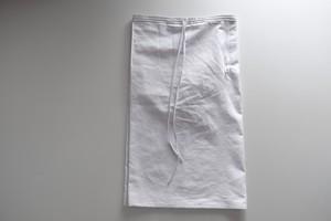 エプロンラップパンツ / コットン ツイル【 ホワイト 】/ apron wrap pants / cotton twill【 white 】