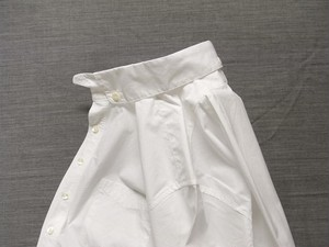 anotherline roundcollar b.d. shirt / white