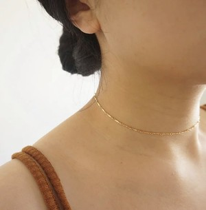 Bar chain choker necklace (バーチェーンチョーカーネックレス)