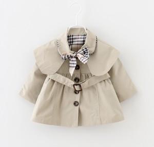 【送料無料】可愛い リボン&ベルト付き トレンチコート  上着 ジャケット