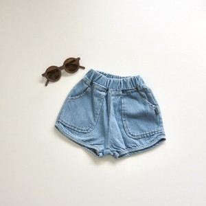 〔即納〕 denim short pants