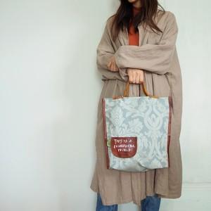 布と革のバッグ Bag-0132