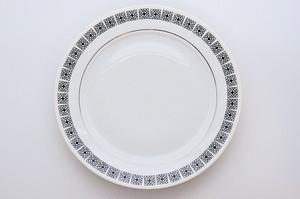 チェコスロヴァキア ヴィンテージ デザートプレート(Loucky)1964年 25.5cm #P005-02