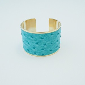 ostrich leather bangle