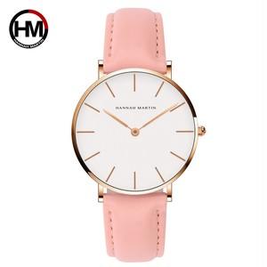 ジャパンクォーツシンプルな女性のファッション時計ホワイトレザーストラップレディース腕時計ブランド防水腕時計36mmCB36-FF