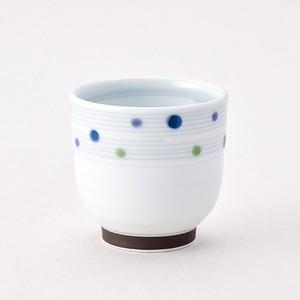 色彩水玉 コップ青