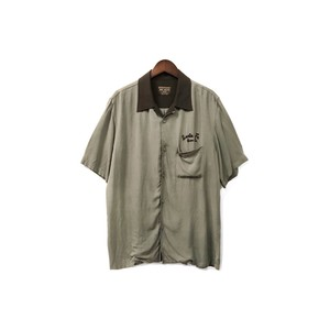 MR.OLIVE - Open Collar Rayon Shirt (size - M) ¥9000+tax