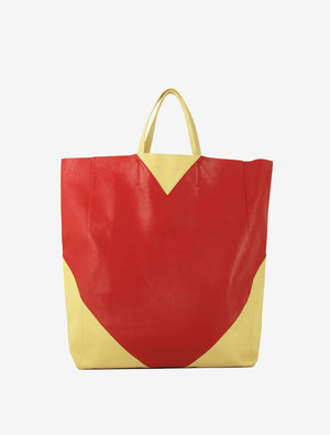 CELINE HORIZONTAL CABAS BI-COLOR TOTE BAG