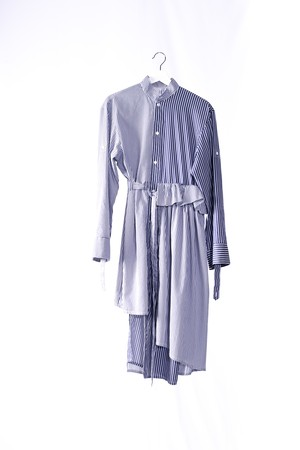 WAIST DESIGNED SHIRT DRESS