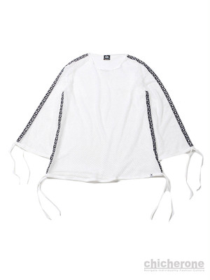 【SILLENT FROM ME】MIST -Wide Mesh Pullover- WHITE