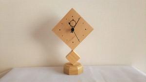 木製置き時計 ダイヤ形