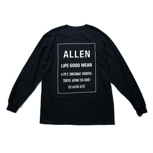 ALLEN LOGO Long T-shirt black
