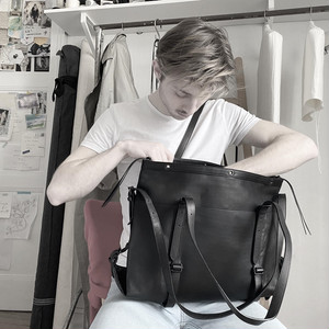 204ABG02 Leather bag 'atelier' M 20 トートバッグ