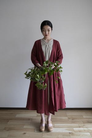 Lailha / カシュクールワンピース / リネン / RD(草木染)