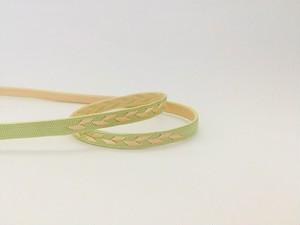 リバーシブル帯留用三分紐「つる草」(3)