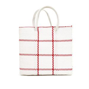 MERCADO BAG STICH- Red x White(M)