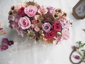 Antique Botanical arrangement*アンティークピンクのボタニカルアレンジメント*ギフト*プリザーブドフラワー*花*母の日