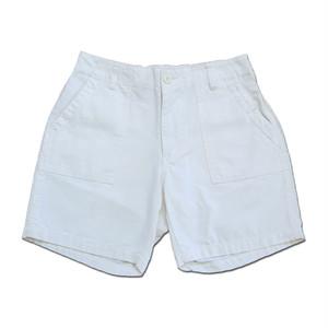 Traditional wears ベーカーショートパンツ ショーツ ホワイト コットン チノ ミリタリー 103026752