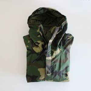 "DEADSTOCK US Army 80's ECWCS W.Camo Gore-tex Parks  ""X-SMALL  REGULAR"""