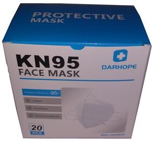 予約販売 医療関係者限定販売 KF95 マスク 3D立体マスク 白 20枚/1箱x96箱 1,920枚  輸入代行品
