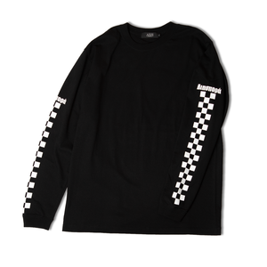 Checkered L/S Tee (Black)